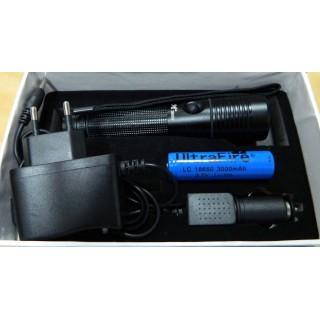 Мощен фенер CREE , Police 5000W + зарядно за кола