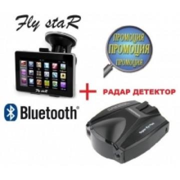 2 в 1 - GPS 4.3 Fly StaR Q1BT + РАДАР ДЕТЕКТОР - ПРОМОЦИЯ