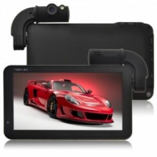 GPS Навигация 7 с DVR и 2 камери, 128MB, 4GB