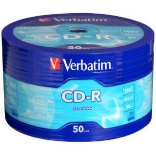 CD-R PRINT диск в опак. целофан 50бр. Verbatim 700Mb 52X
