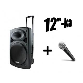 "Най-мощната караоке система/колона, микрофон, Bluetooth, радио, дисплей, акумулатор,12"" бас"
