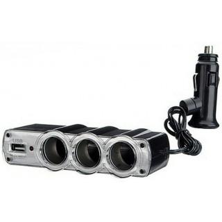 разклонител на запалка 3х 12v/24v + Usb 5v сплитер за таблет навигация телефон игра Gsm Gps Pda TV