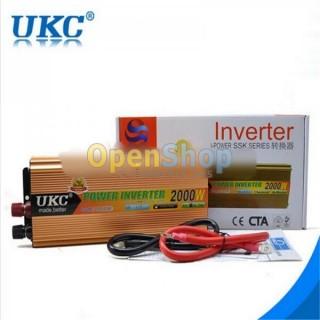 ВИСОКОКАЧЕСТВЕН инвертор UKC 2000W 12V - 220V